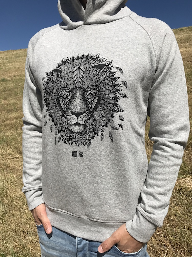 ONE ONE ONE Wear - Lion Hoody - size guide