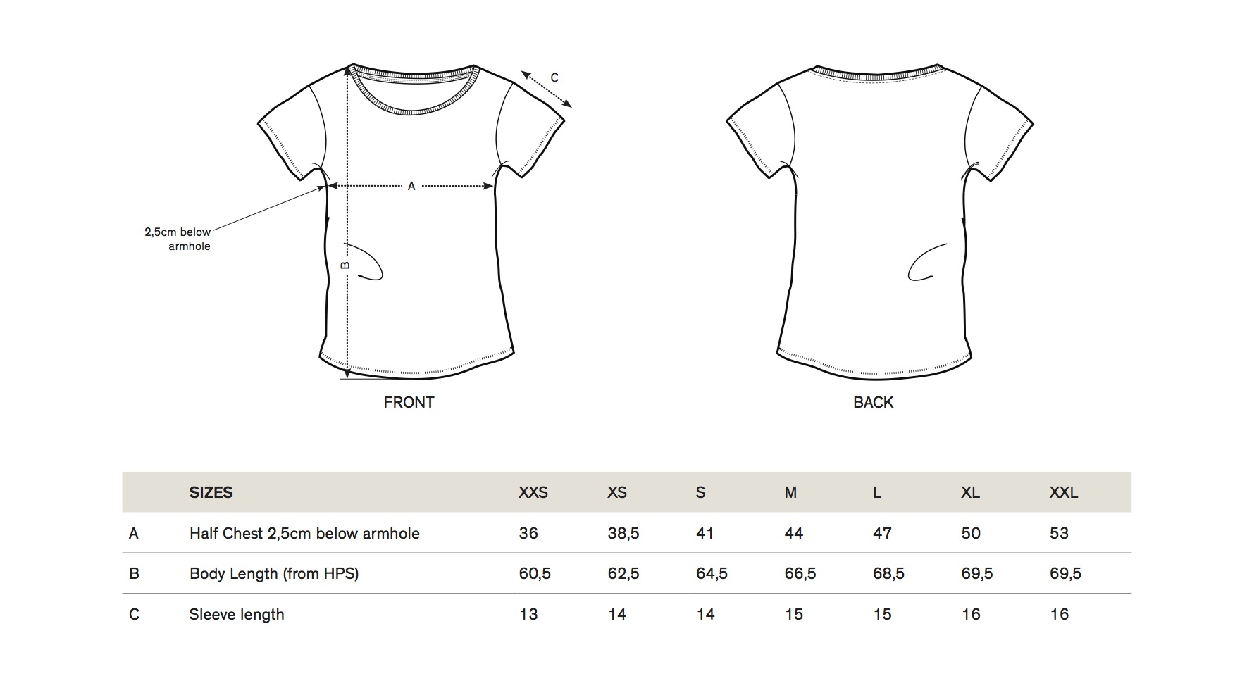 Jah Army - Size guide Women Shirt
